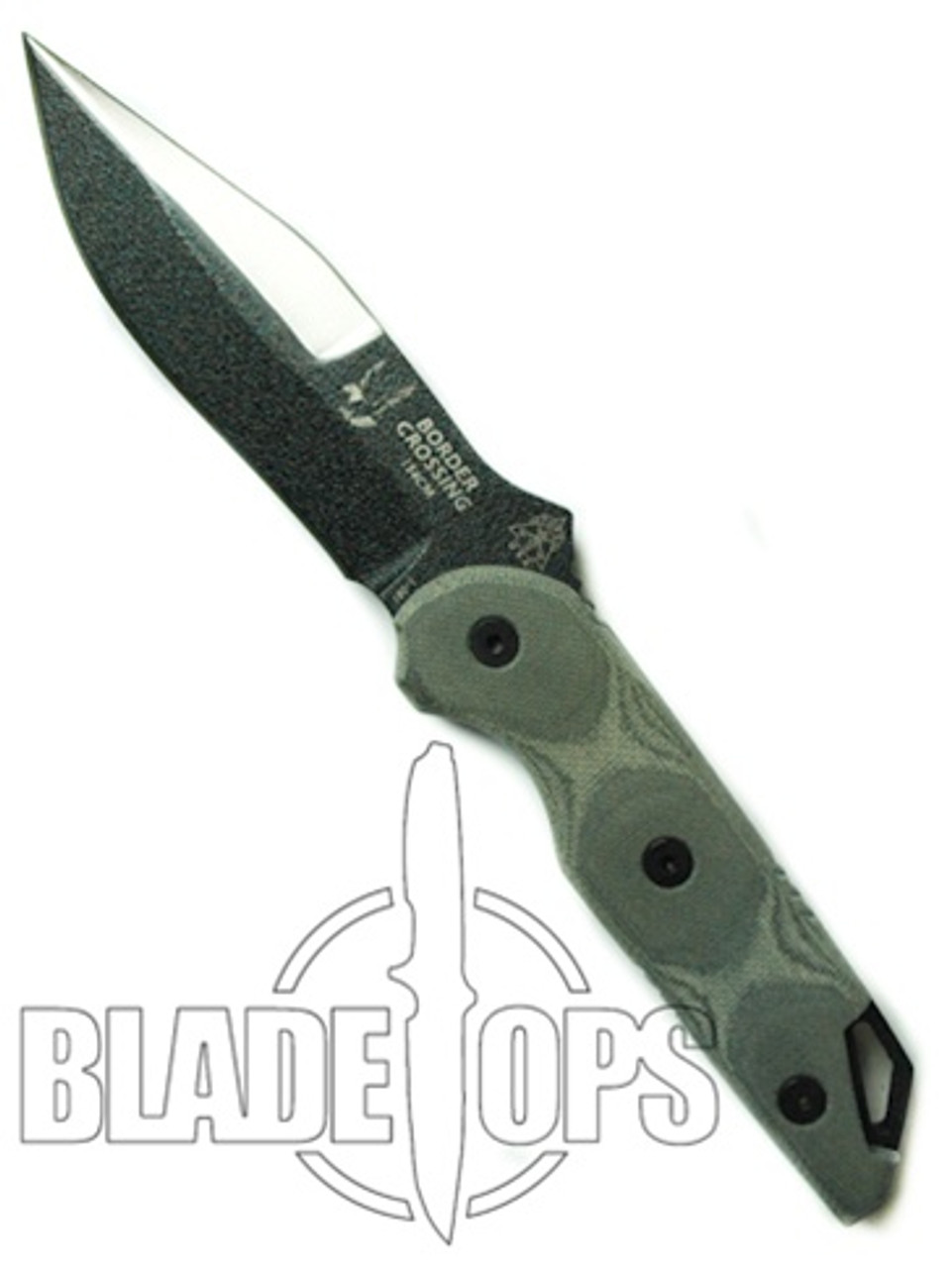 TOPS Knives BEST Border Crossing Fixed Blade Knife, BC5030