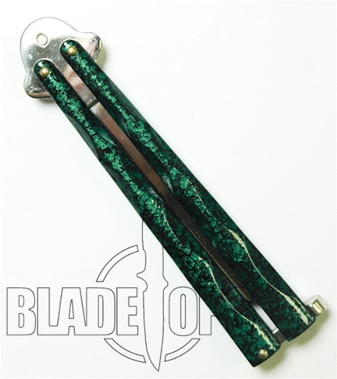 Green Diamond Butterfly Knife