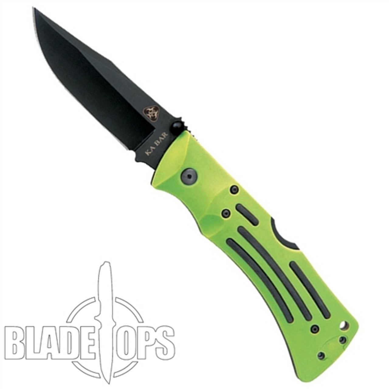 KA-BAR Zombie MULE LockBack Knife, Black Clip Point Blade