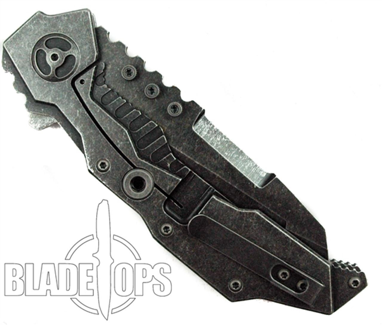 Quartermaster Knives Hannibal QTR4-FLT FrameLock Knife, Limo Tint