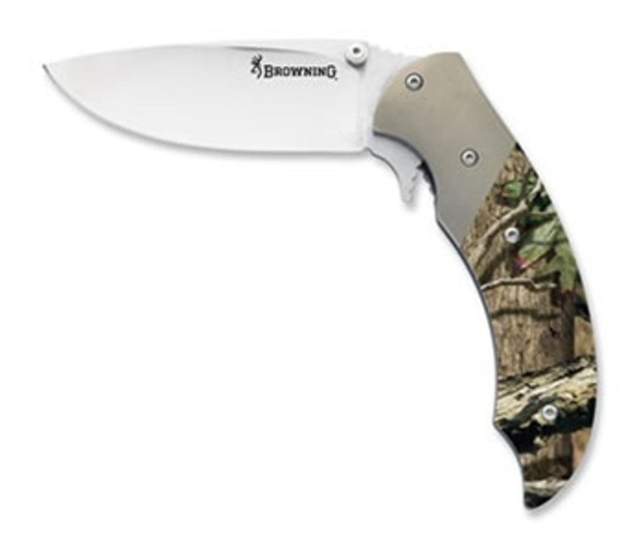 Browning Tactical Hunter Folder Knife, Mossy Oak Handle, 503