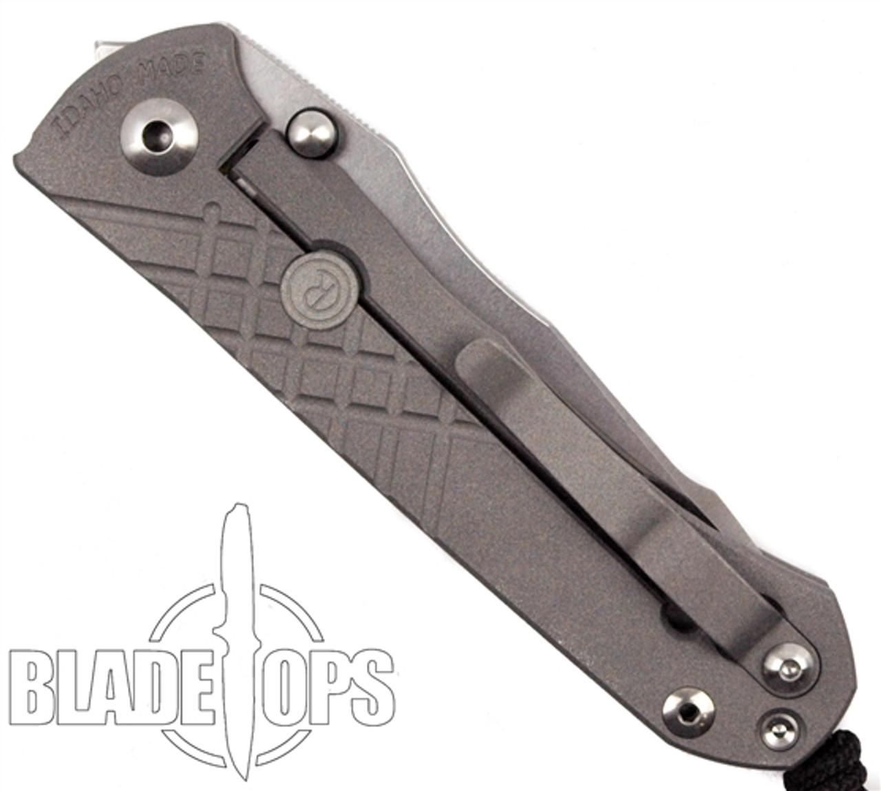 Chris Reeve Umnumzaan Frame Lock Knife, Stonewash Plain