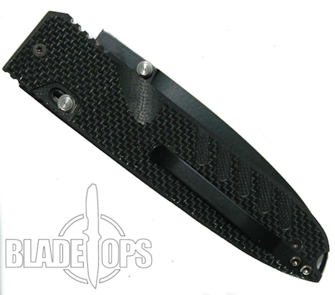 LionSteel Knives 8701G10 Daghetta G10 Folding Knife, Black Blade