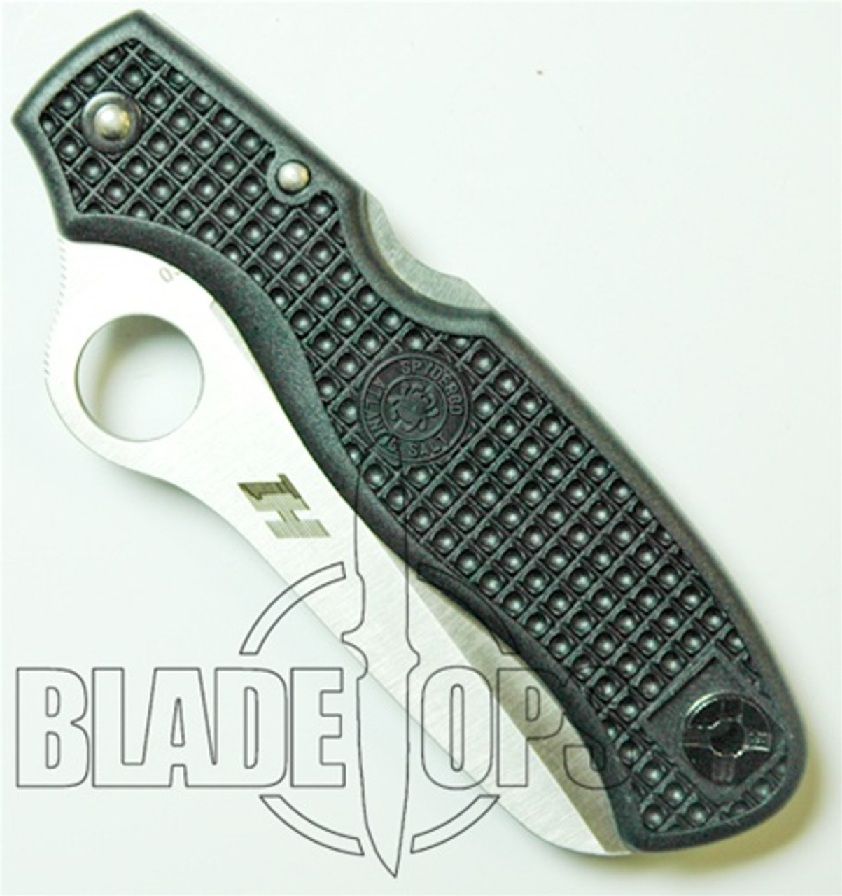 Spyderco Atlantic Salt Folding Lockback Knife, H1 Steel Plain Blade, Black FRN Handle, C89PBK