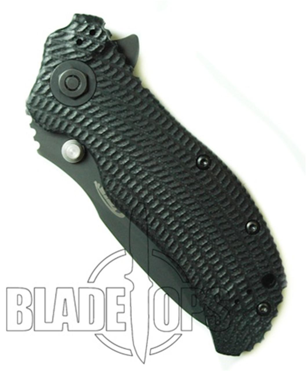 Zero Tolerance 0300 Spring Assist Knife, S30V Tactical Plain Blade, Black G10 and Titanium Handles
