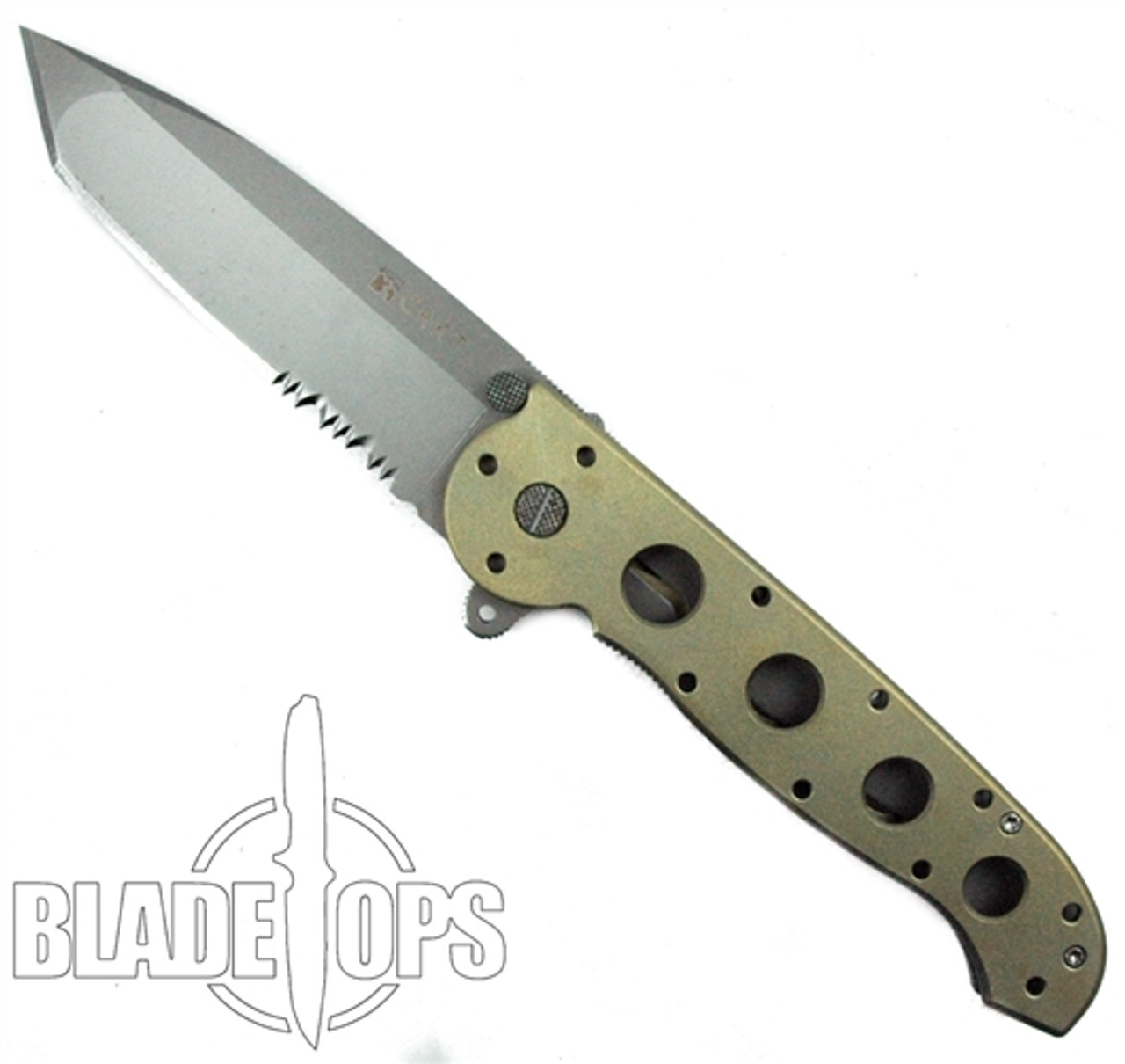 Custom Loki Tool Gold Anodized CRKT M16-14T Carson Big Dog Folder Knife