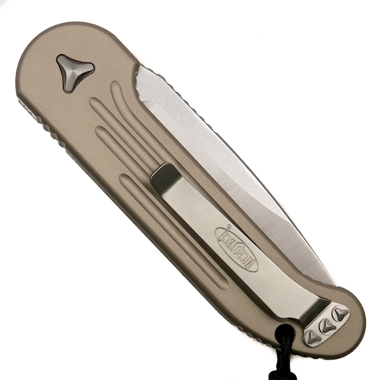 Microtech 135-4TA Tan LUDT Auto Knife, Satin Blade