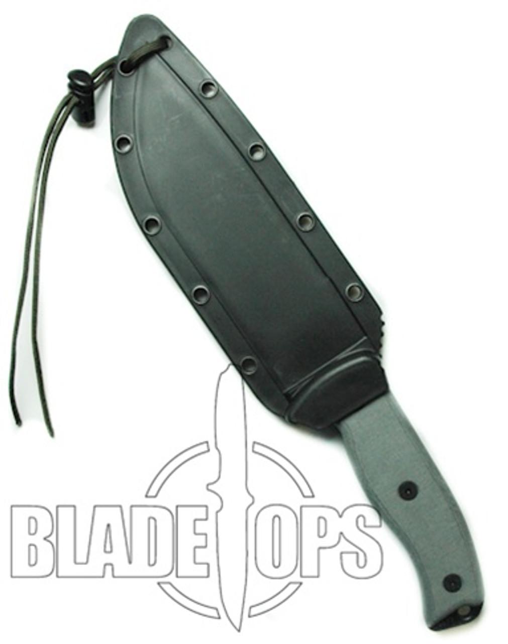 ESEE Knives ESEE-6 Fixed Blade Knife, Black Blade, Linen Micarta Handle, Black Sheath, ESEE-6P-B
