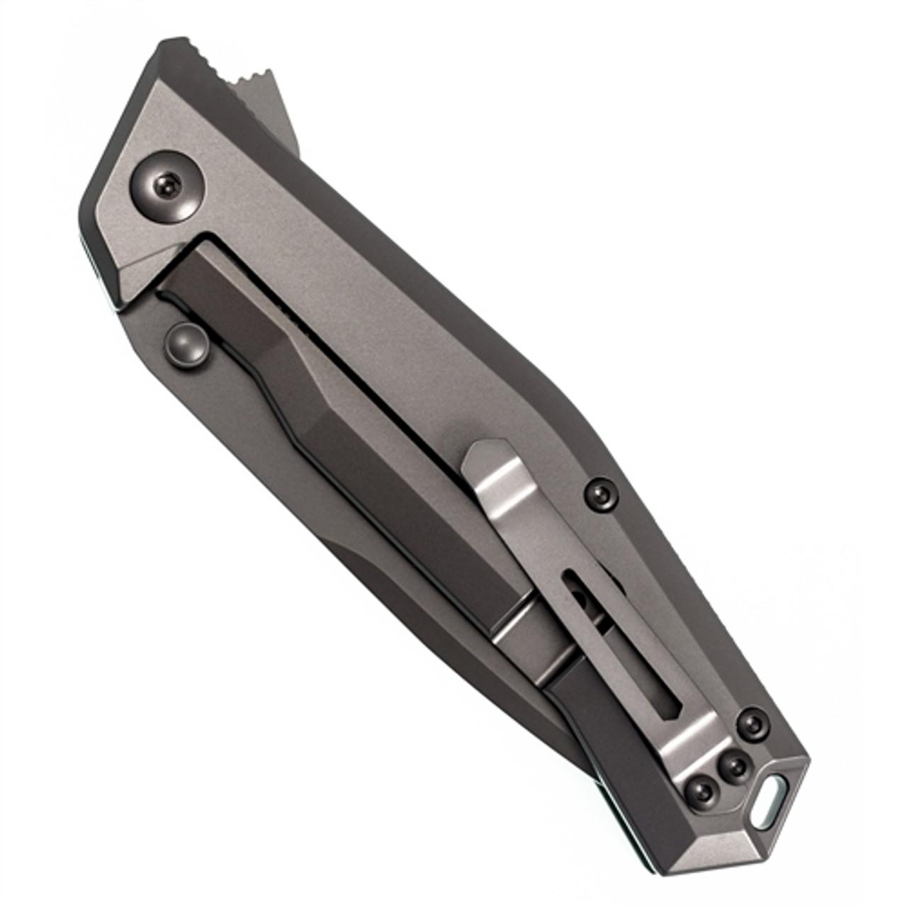 Steel Will Apostate Flipper Folding Knife, Olive Green G10 Handle, Dark Grey S35VN Tanto Blade