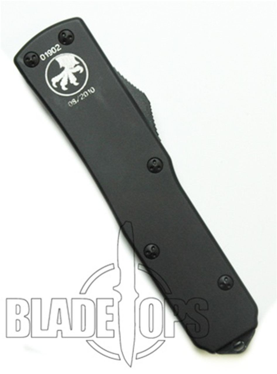 Microtech UTX85 D/A Tactical Out the Front Knife, Single Edge, DLC Blade, Part Serrated, MT125-2T