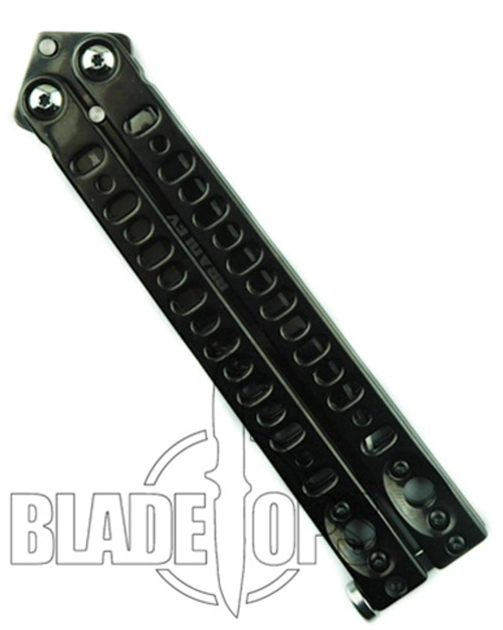 Bradley Kimura IV Butterfly Knife, Limited Edition Polished Black, Clip Point, BC5500-IVBLK