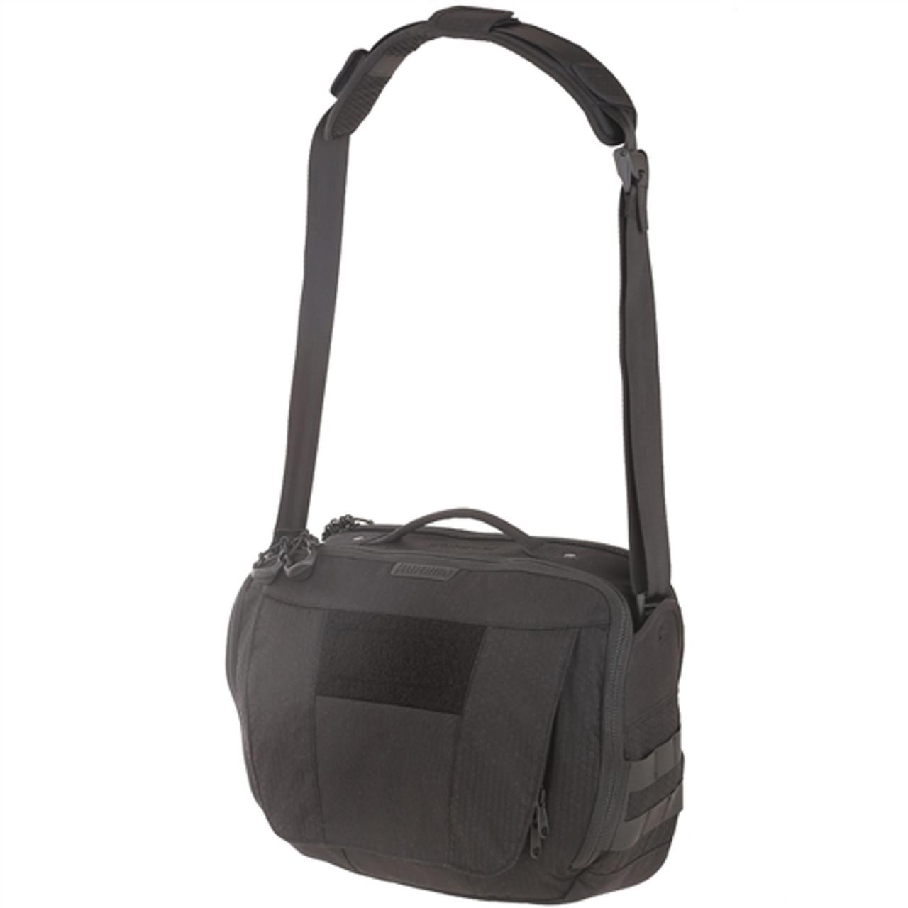Maxpedition SKRBLK AGR Skyridge Tech Messenger Bag, Black