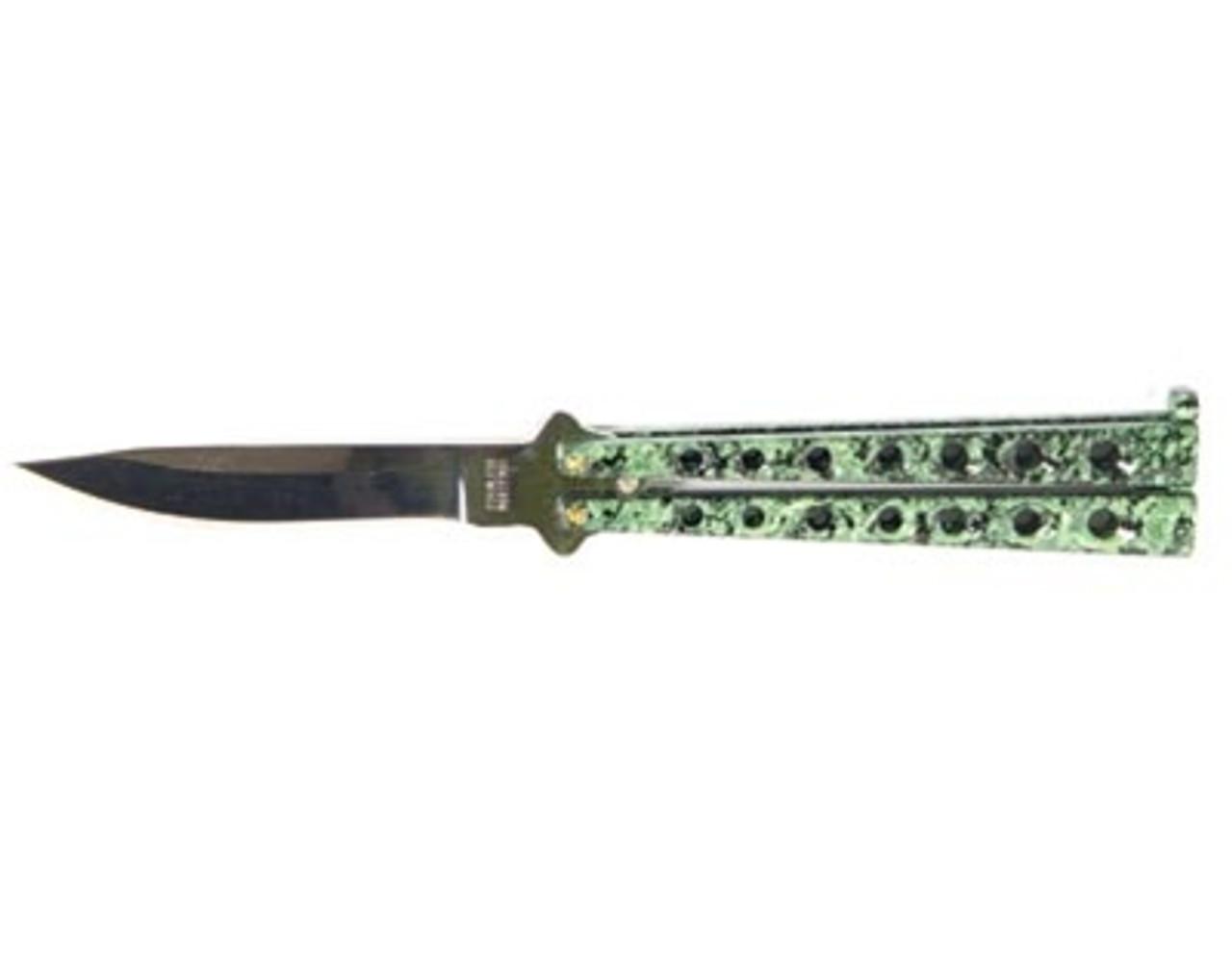 Green Dragon Butterfly Knife, Plain