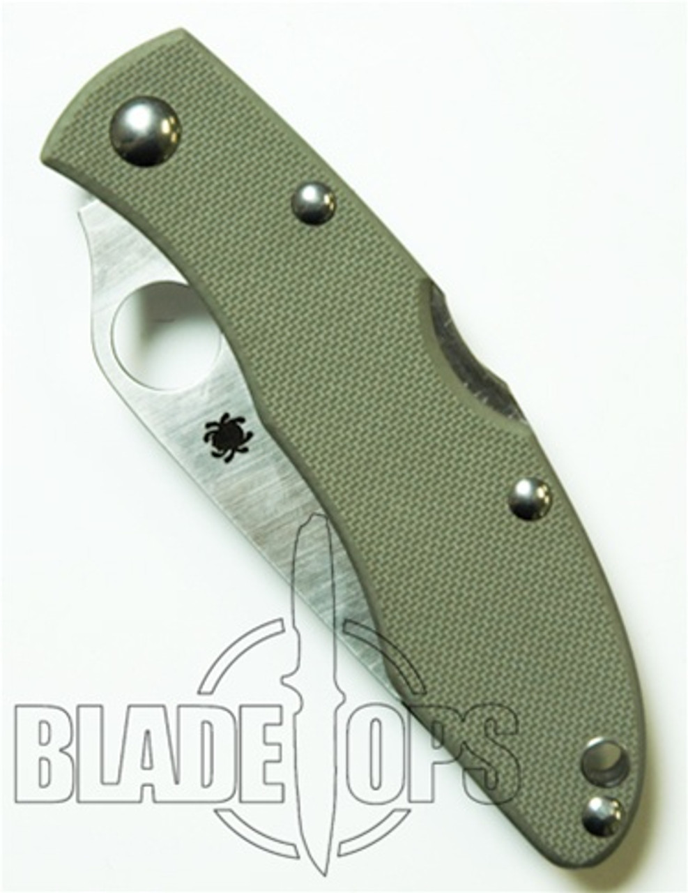 Spyderco Rookie Knife, Foliage Green G10 Handle, Plain Edge, C51GPFG