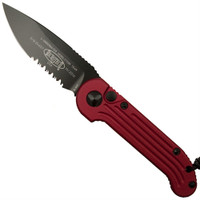 Microtech 135-2RD Red LUDT Auto Knife, Black Combo Blade