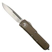 Microtech 231-10TA Tan UTX-85 S/E OTF Auto Knife, Stonewash Blade