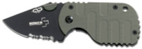 Boker Subcom F Compact Knife, Black Plain Blade, Camo Handle