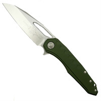 Microtech 196-10OD OD Green Sigil MK6 Aluminum/Titanium Flipper Knife, Stonewash Blade