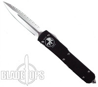 Microtech Ultratech OTF Knife, Satin F/S, Double Edge, MT122-6