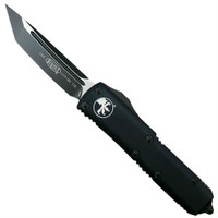 Microtech 233-1T Tactical Contoured UTX-85 T/E OTF Auto Knife, Black Blade