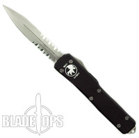 Microtech 147-8 UTX70 D/A Out the Front Knife, Double Edge Bead Blast Part Serrated