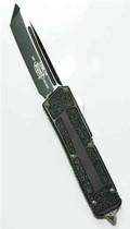 Microtech SCARAB OTF Knife, DLC Black Tanto,  MT113-1