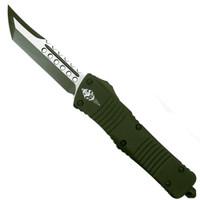 Microtech 219-1COD OD Green Combat Troodon Hellhound Tanto OTF Auto Knife, OD Green/Satin Blade