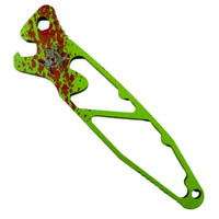 Microtech 100-1Z Zombie Socom Bottle Opener, Toxic Green/Red Finish