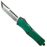 Microtech 219-10BH Bounty Hunter Combat Troodon Hellhound Tanto OTF Auto Knife, Apocalyptic Stonewash Blade
