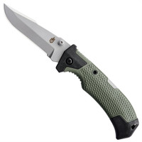 Gerber 30-001300 Green/Black Edict Folder Knife, 154CM Bead Blast Blade