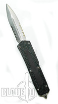 Microtech QD Scarab OTF D/A Knife, D/E, Stonewash Part Ser Blade, 110-11