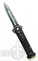 Black Joker Spring Assist Tactical Knife, Side Open, P/S, Large
