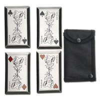 Fantasy Master Throwing Knife, Joker Cards, Set of 4
