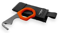 Benchmade 7 Hook/ Safety Cutter, Black with Safety Orange Handle, Soft Sheath, 7BLKW-ORG