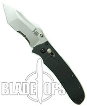 Benchmade H&K Snody Axis Knife, G10, Tanto Point, Bead Blast, Part Serrated Edge, 14255S