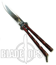 Red Diamond Butterfly Knife, Part Serrated