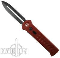 Paragon Red PARA-XD OTF Auto Knife, DLC Black Dagger Blade