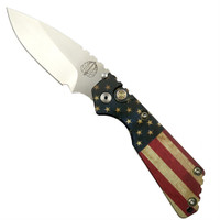 Pro-Tech Limited 24USA-3 Vintage Flag Strider SnG Auto Knife, 154CM Stonewash Blade