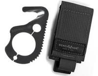 Benchmade 5BLKW Hook/ Safety Cutter, Black Oxide Finish, Soft Sheath, Malice Clip