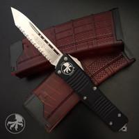 Microtech 144-6 Combat Troodon T/E OTF Auto Knife, Full Serrated Satin Blade