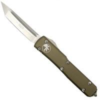 Microtech 123-10TA Tan Contoured Ultratech T/E OTF Auto Knife, Stonewash Blade
