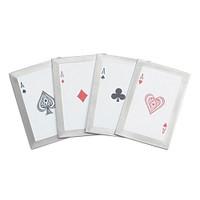 Quads JL-4A 4-Piece Throwing Card Set, Aces