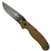 Ontario 8846CB Coyote Brown RAT Model 1 Folder Knife, AUS-8 Black Blade