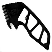 Gerber 31-003285 Gutsy Fixed Blade Fish Processing Tool, Black Finish