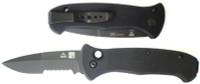 Al Mar AS4B SERE Auto Knife, Part Ser. Tactical Blade, Black Handle
