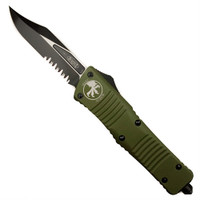 Microtech 146-2OD OD Green Combat Troodon Bowie OTF Auto Knife, Black Combo Blade