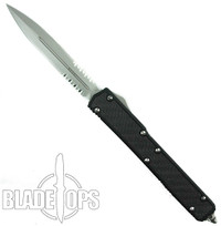 Microtech Makora II Dual Edge OTF Knife, Bead Blast Part Serrated, 106-8