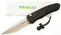 Bradley Cutlery Alias I, Large Auto, Part Serrated Blade, BCC17900S