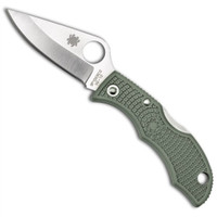 Spyderco Ladybug 3 Folder Knife, Foliage Green FRN Handle, Plain Edge, LFGP3