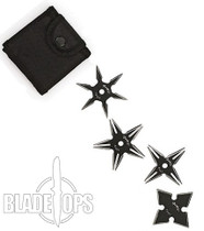 Fury Night Series Shuriken Classic 4 Piece Set with Pouch